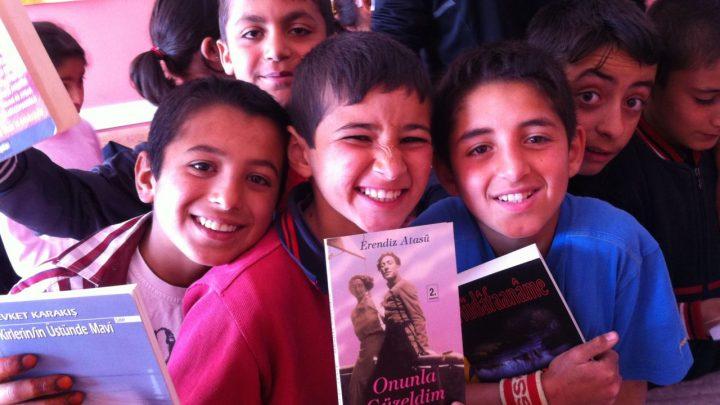 Erzurum Pasinler Hasankale Ortaokulu kitap bağışı