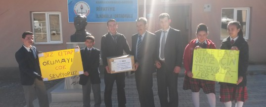 Kahramanmaraş Andırın Rıfatiye Köyü Ortaokulu Kitap Bağışı