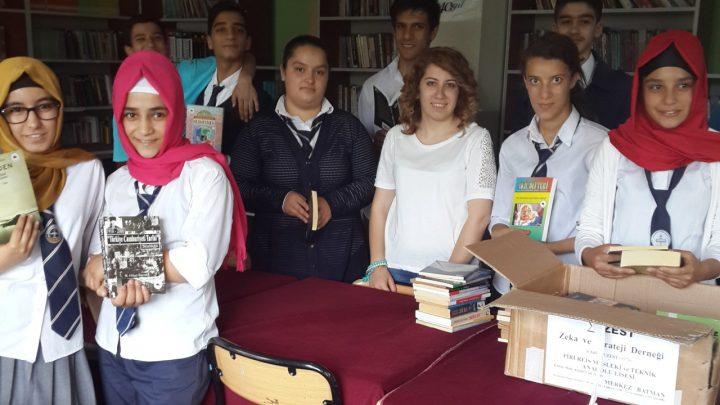 Batman Piri Reis Mesleki ve Teknik Anadolu Lisesi, kitap bağışı
