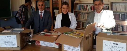 Kastamonu Tosya Bahçelievler Anadolu Lisesi Kitap Bağışı