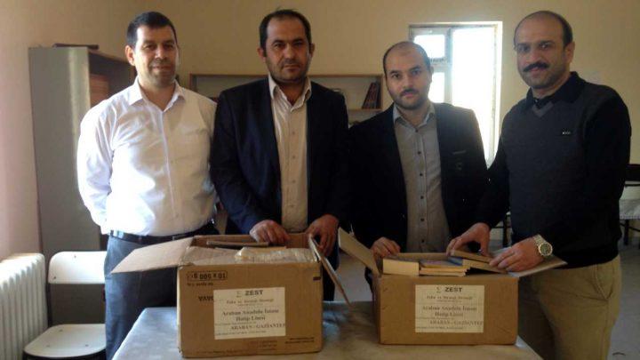 Gaziantep Araban Anadolu İmam Hatip Lisesi, Kitap Bağışı
