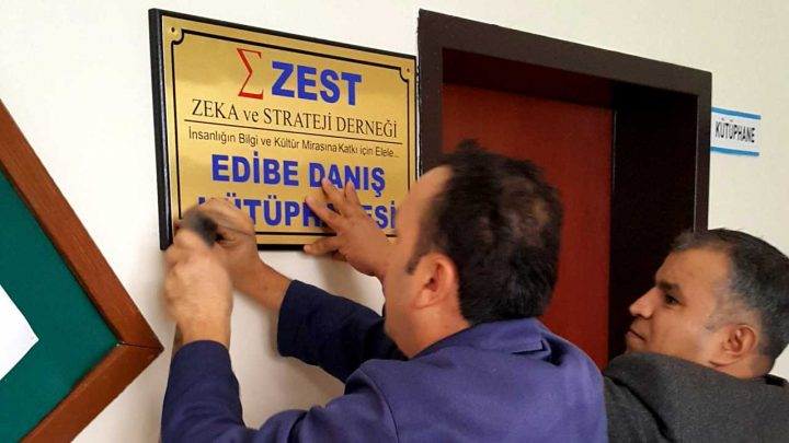 ZEST Edibe Danış Kütüphanesi, Zonguldak, Kilimli, kitap bağışı