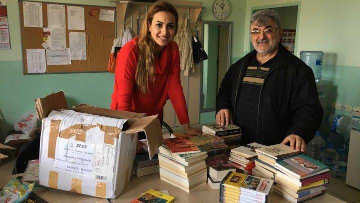 Balıkesir Gönen Hasanbey Ortaokulu Kitap bağışı